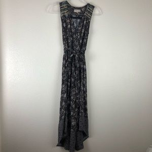 Knox Rose Blue floral long dress M
